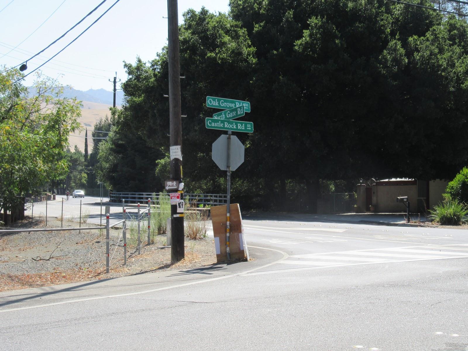 Climb Mt. Diablo - North Gate by bike - start of climb - street sign