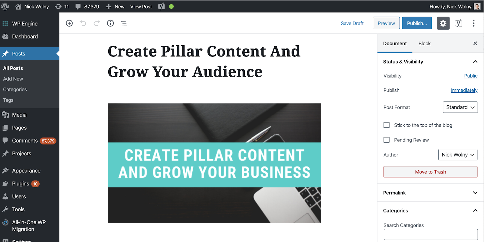 wordpress-promote-content