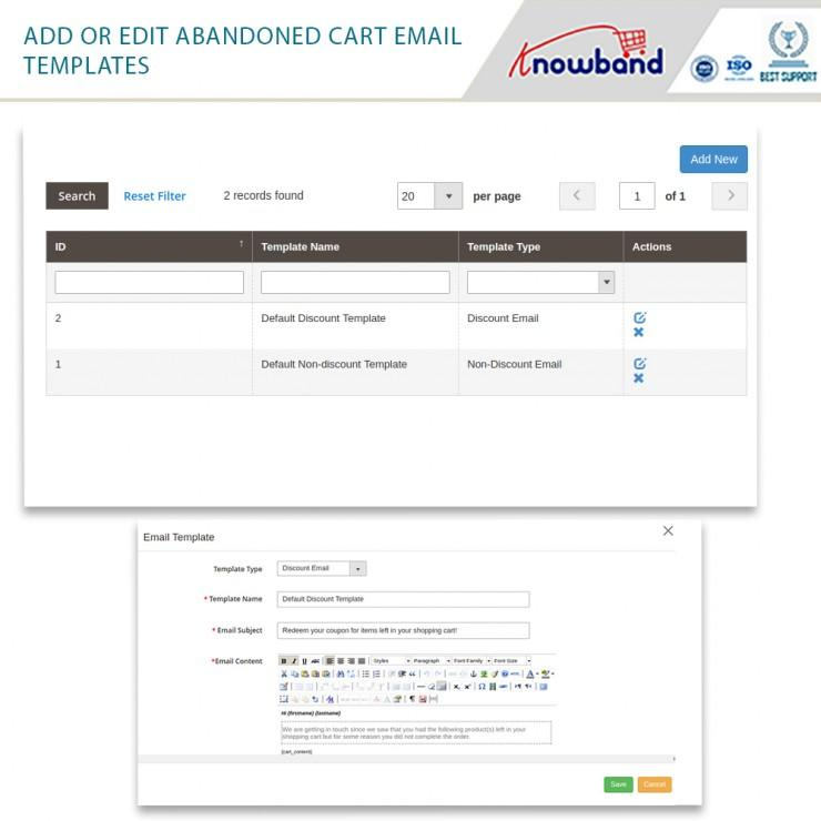 Magento 2 abandoned cart email extension by Knowband