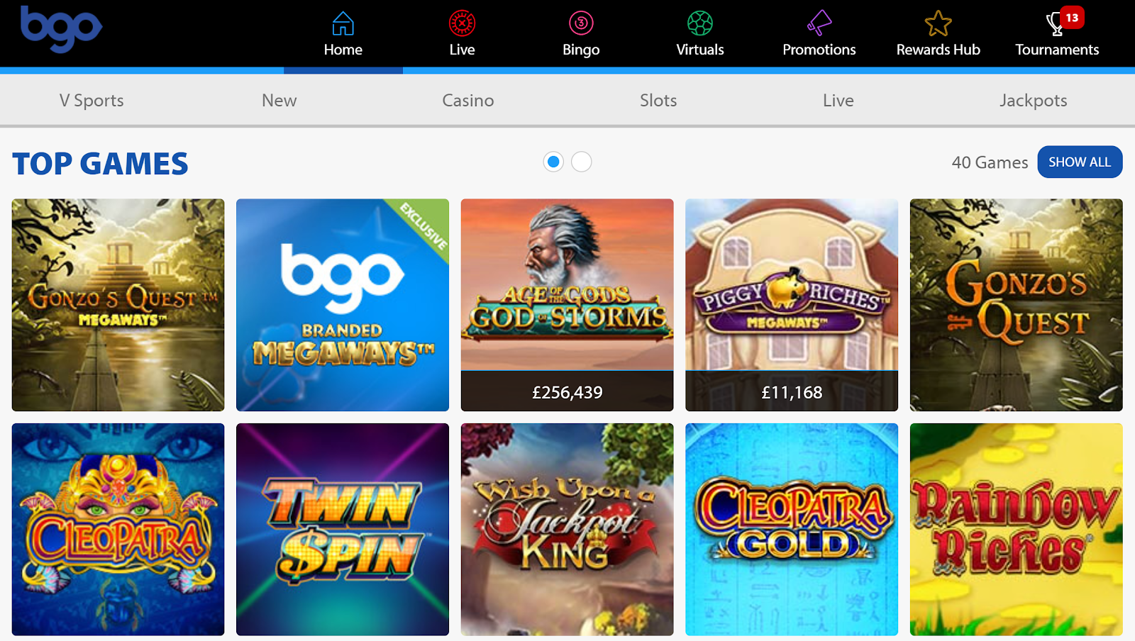 bgo Casino has one of best slots bonus packages of any UK gambling site