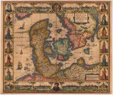 1630 Daniae Regni Typum av Janssonius J.