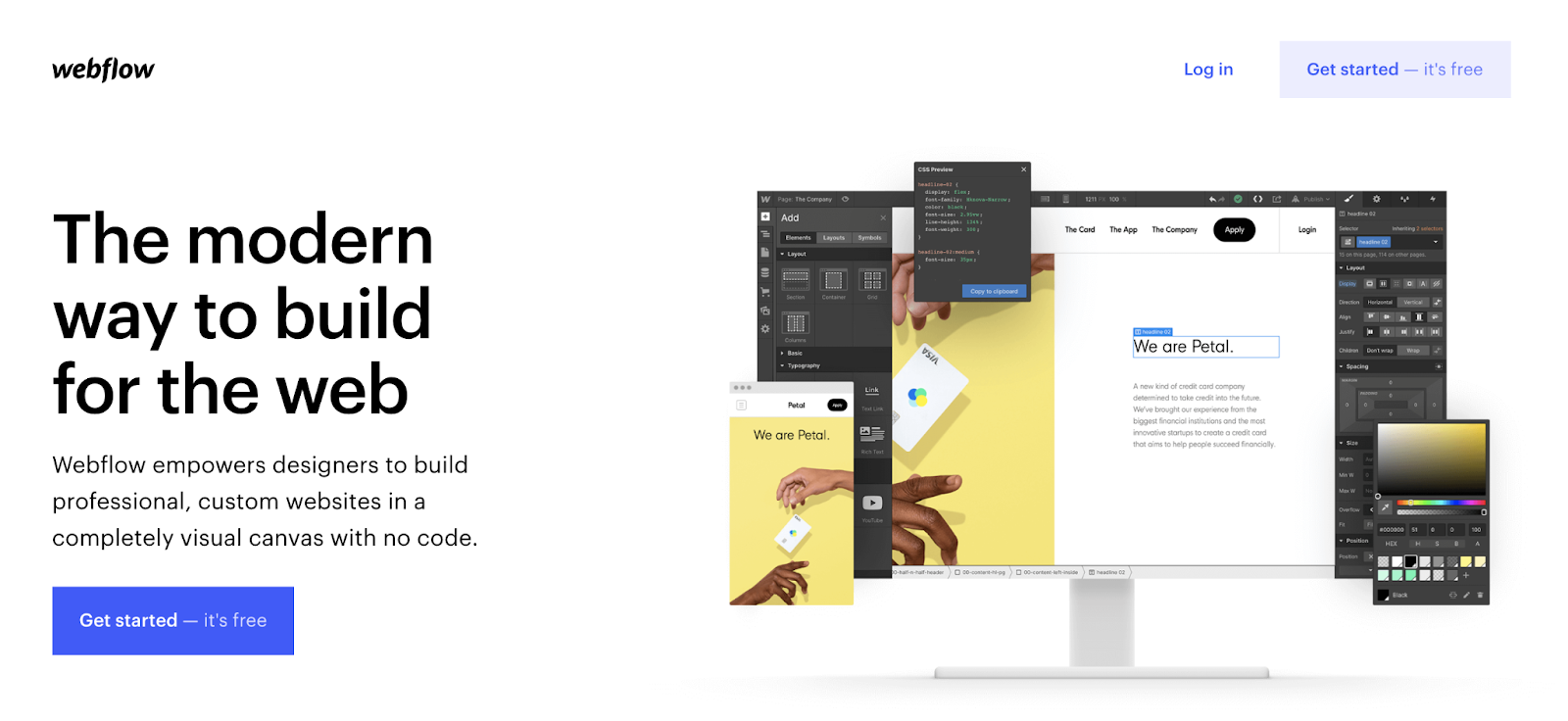 Webflow: best tool for UX designers