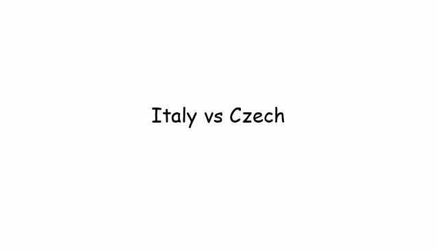 Italy vs Czech