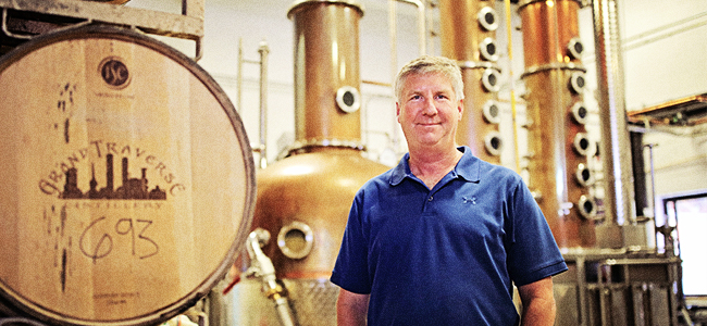 Kent Rabish at Grand Traverse Distillery