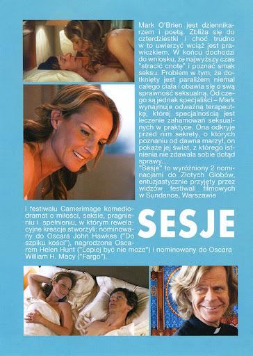 Tył ulotki filmu 'Sesje'