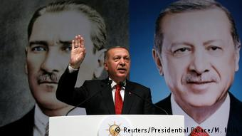 Реджеп Тайип Эрдоган на митинге