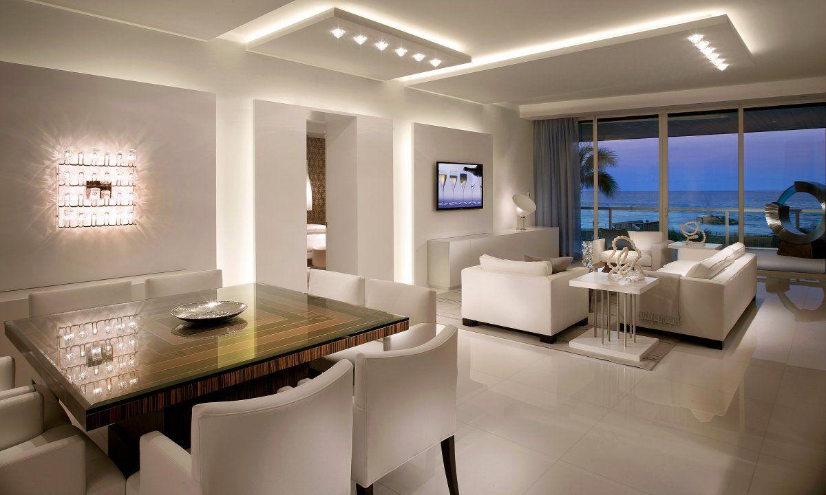 Menggunakan lampu LED hemat energi untuk penerangan hunian - source: pinterest.com