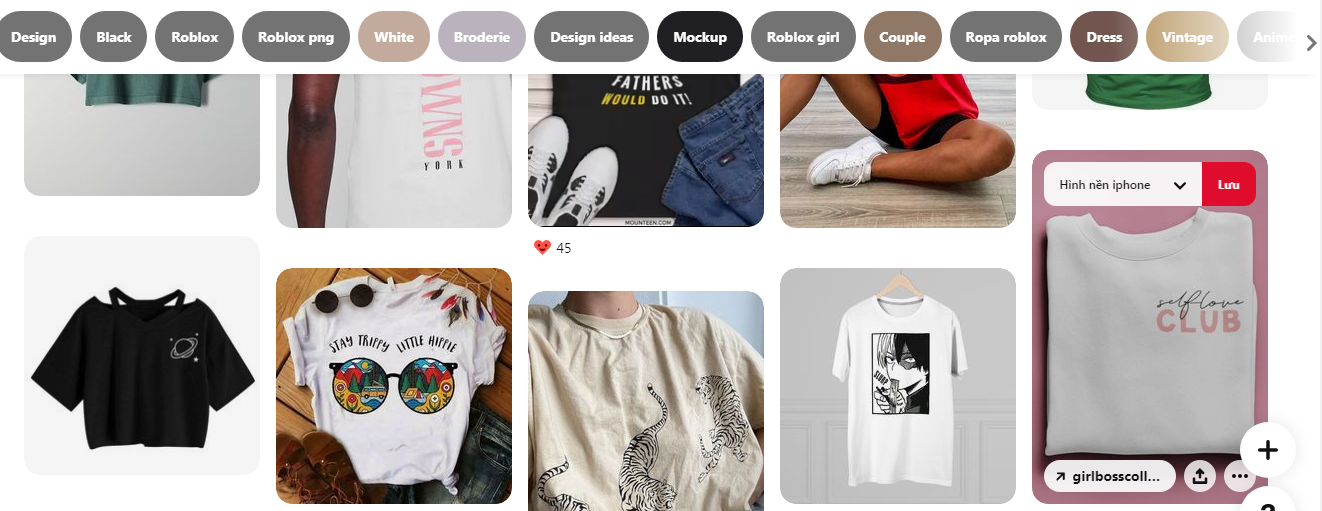 Go to Pinterest to get inspirations