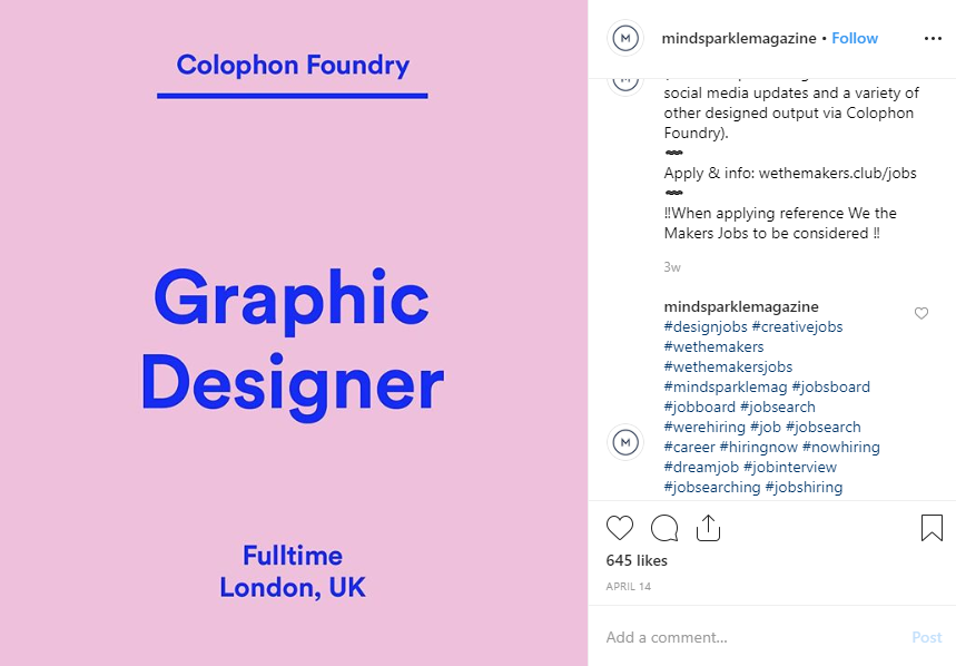 colophon foundry instagram recruiting