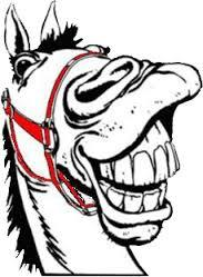 Image result for cartoons of laughing horses