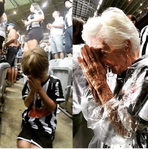 Resultado de imagem para atleticana rezando