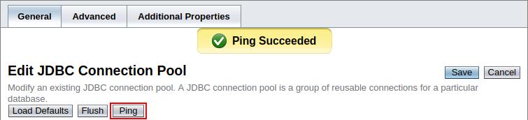 pinging jdbc connection pool