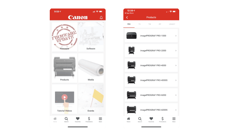Canon Mobile App