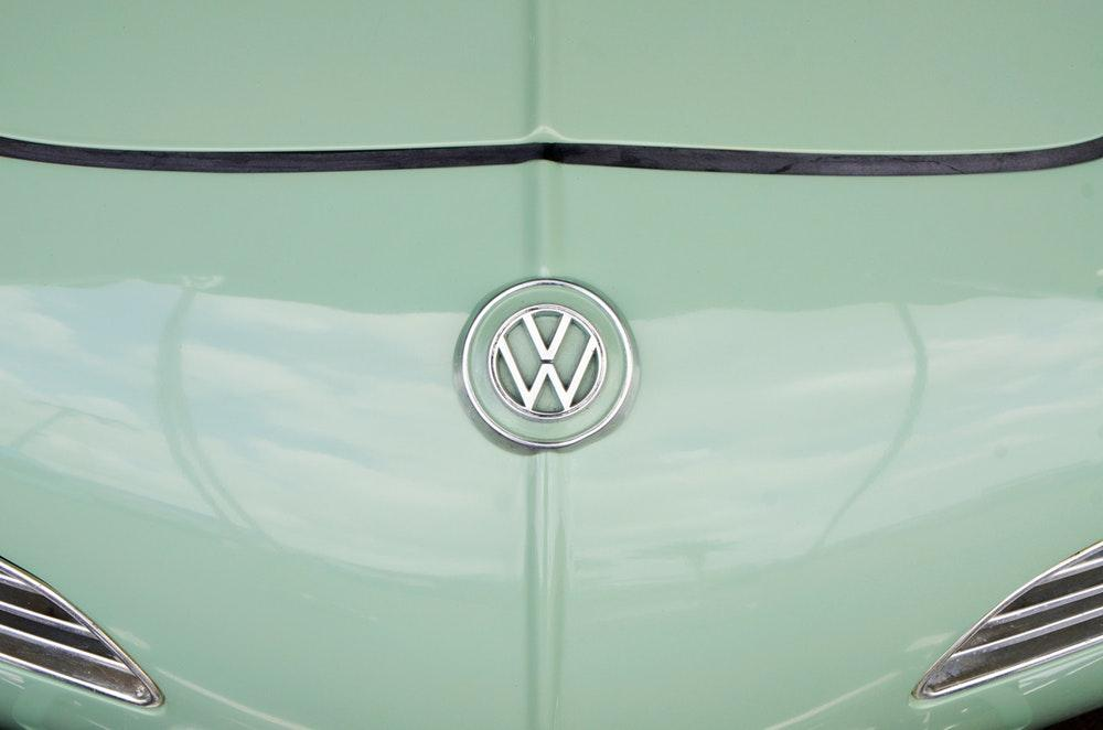 teal Volkswagen car