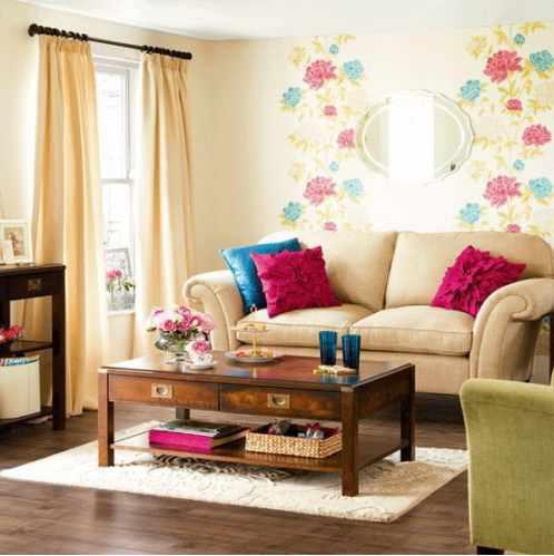 kombinasi warna cat ruang tamu kecil yang bagus