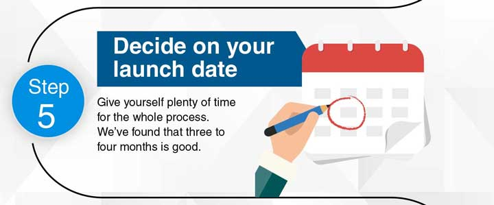 Step 5: Decide on your launch date.