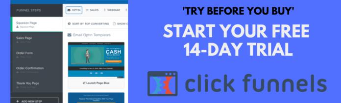 Website vs landing page, free, ClickFunnels