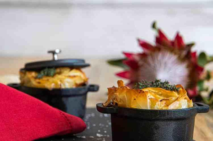 Slow Braised Beef Pie with Red Wine