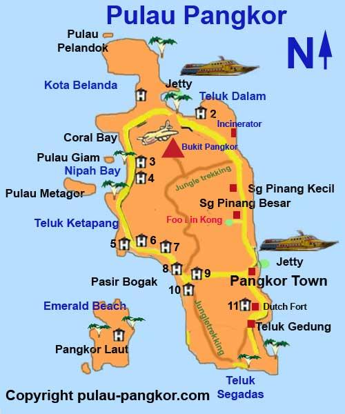 Pangkor Island map.