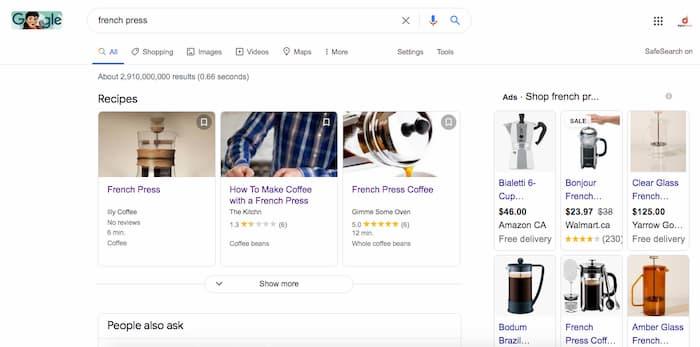 """Phiên thảo luận bí ẩn về SEO cho """"Nhiều lưu lượng truy cập hơn tạo ra nhiều doanh thu hơn"""" chứng minh mục đích tìm kiếm với Google Ads cho giá trị thương mại"""