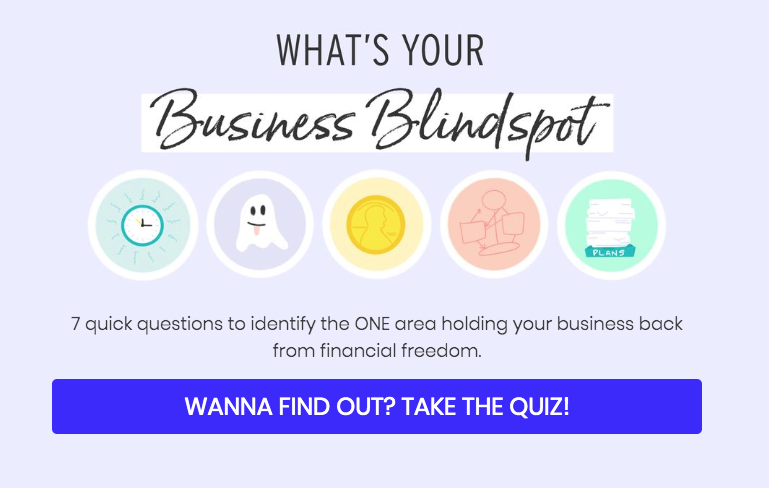 what's your business blindspot? quiz cover