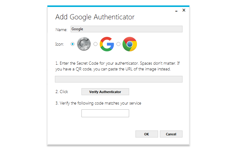 Añadir Google Authenticator en WinAuth