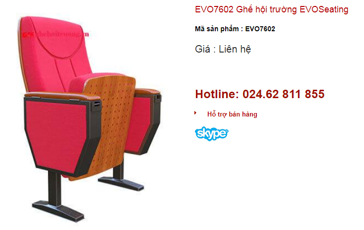 Ghế hội trường EVO Seating mã số EVO7602