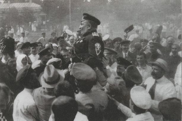 Восторженный прием генерала В. З. Май-Маевского в Киеве