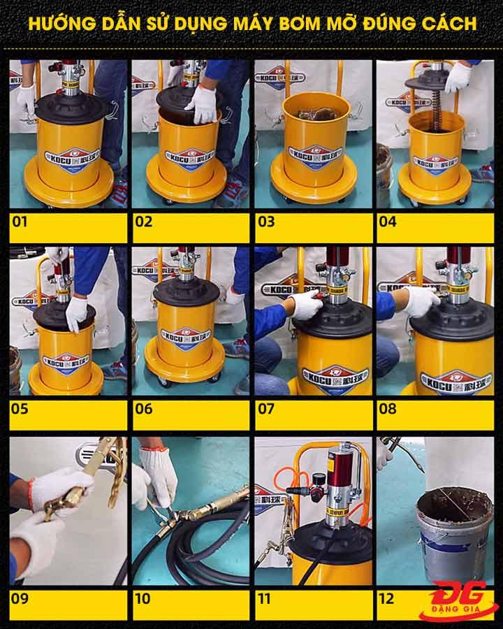 Cách sử dụng máy bơm mỡ bằng điện