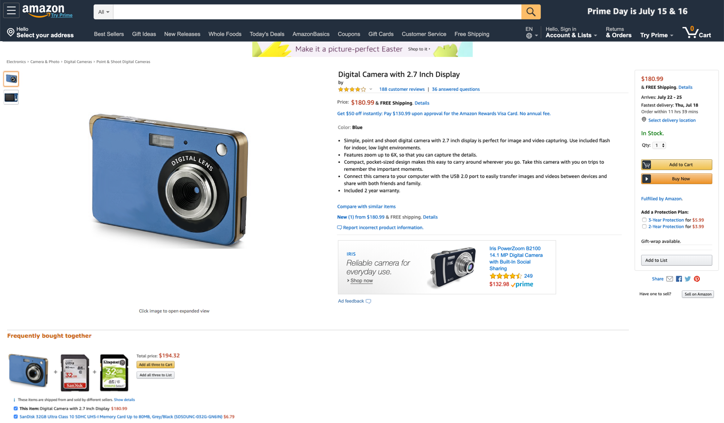 Annonce Display Amazon Advertising