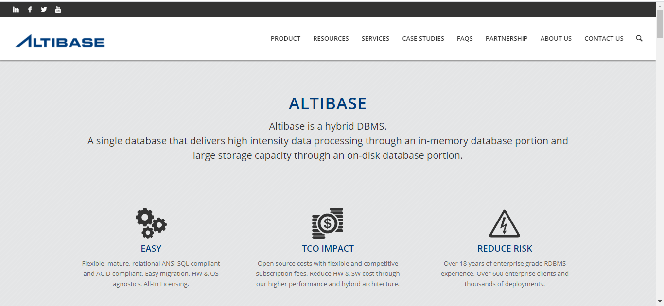 Altibase is a Database Management Software