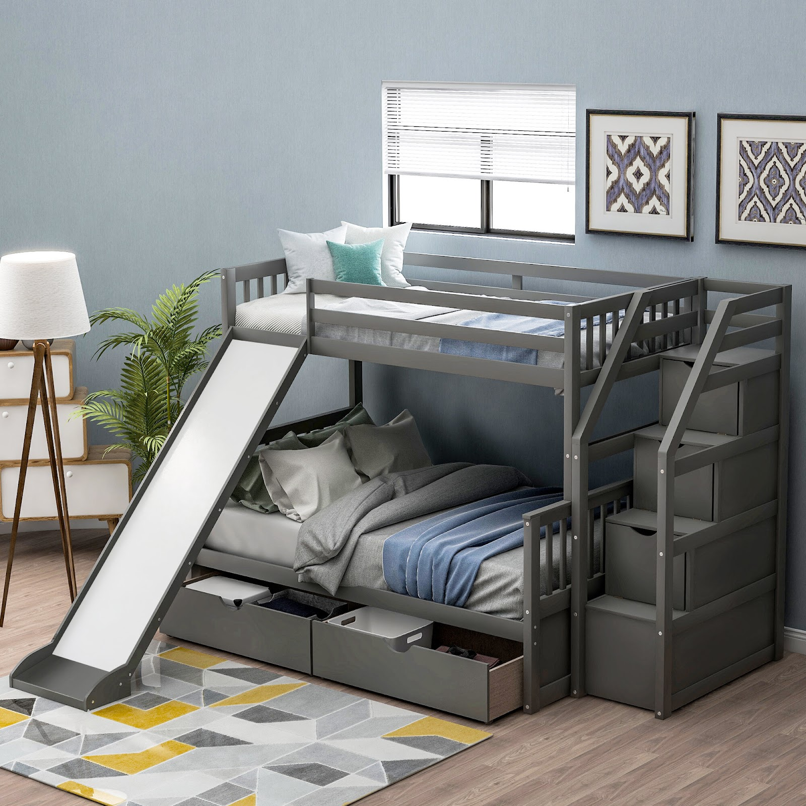 A Special Bed With A Slide Boy Bedroom Ideas