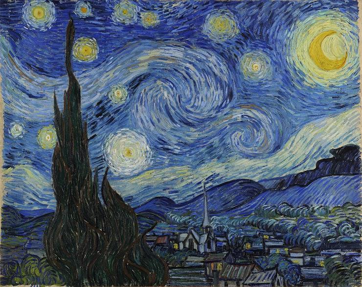 credit line: Vincent van Gogh, The Starry Night, 1889