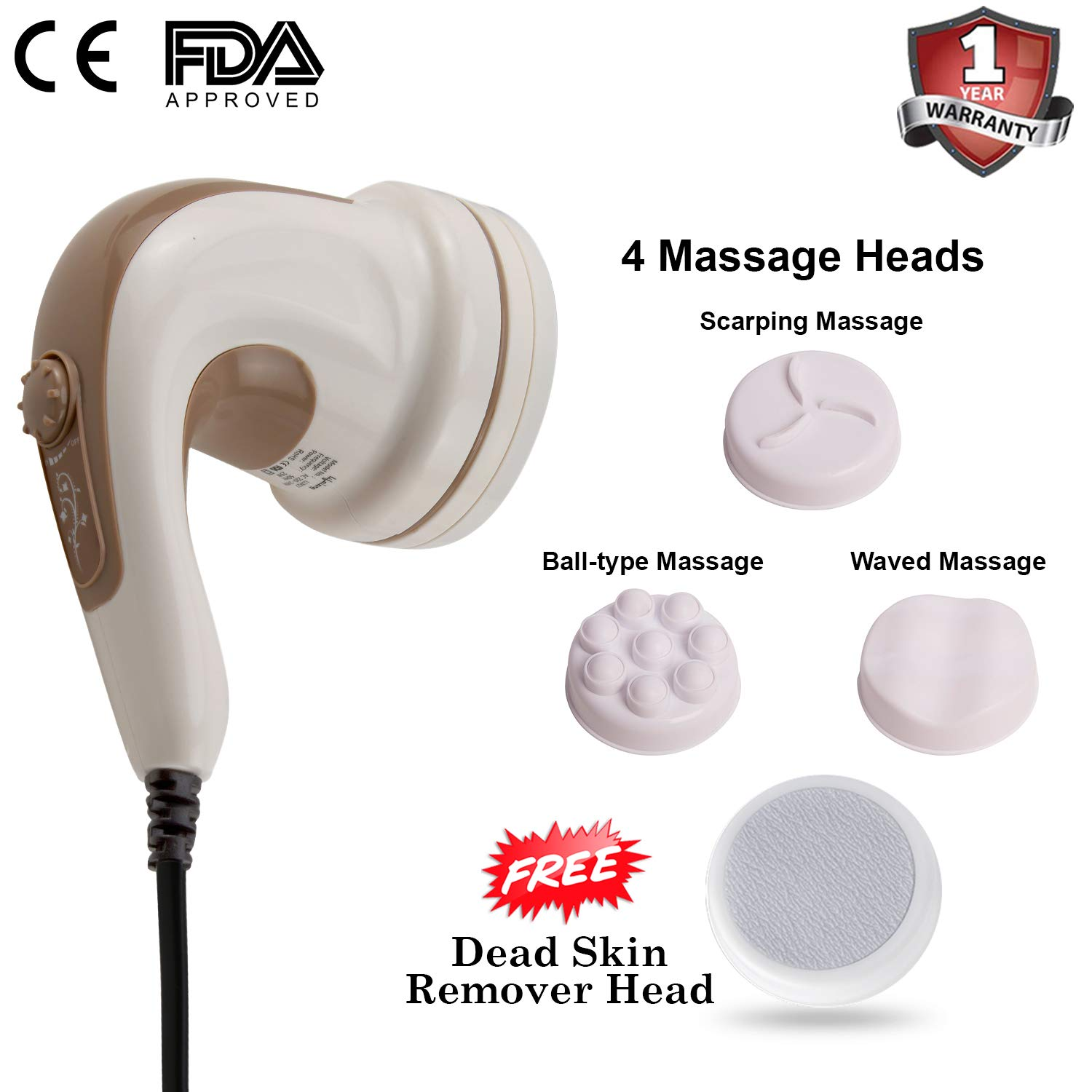 Lifelong Electric Handheld LLM27 Full Body Massager