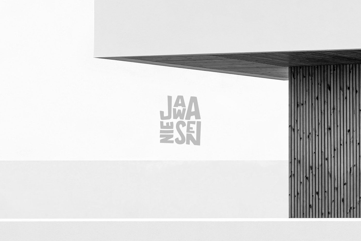 Jawa Nie Sen logo displayed in front of a geometric white building.
