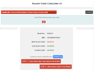 Huawei Unlock Code