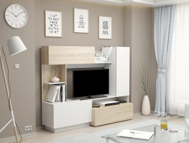 Современные мини-стенки в дизайне гостиных