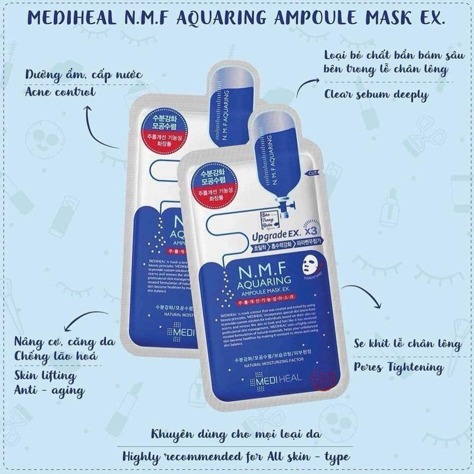 mặt nạ cho da hỗn hợp thiên khô Mediheal N.M.F Aquaring Ampoule Mask