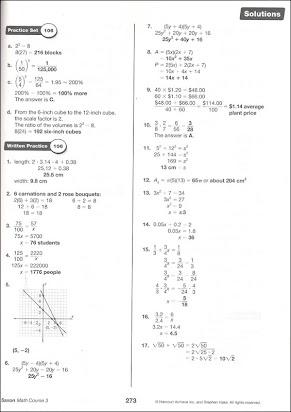 Saxon math course 3 homework help