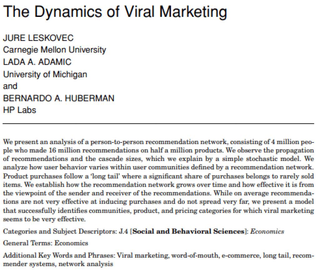 viral-marketing-research-study