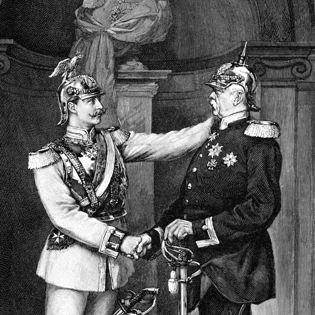 otto von bismarck and bismarckian germany Otto von bismarck achieved the unification of germany during a series of wars in which a prussian military force, under bismarck's command, was able to acquire land and subsequently enforce new laws over its peoples these wars became known as the wars of german unification bismarck allied with the .