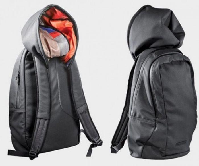 Рюкзак с капюшоном дизайн, идея, креатив