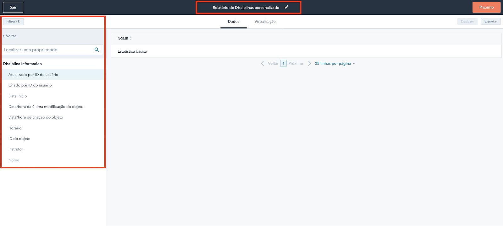 Hubspot Objeto customizado - Reports