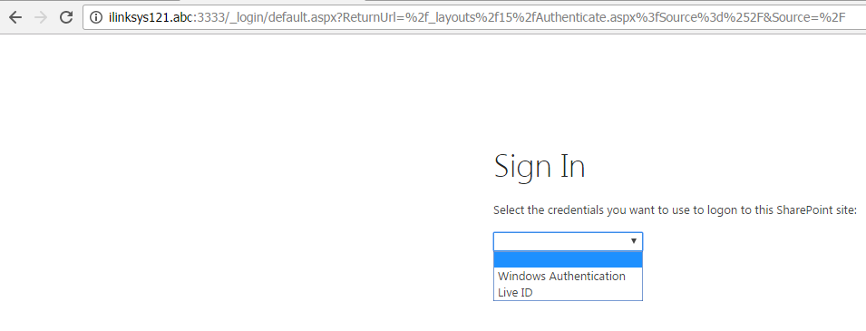 SAML based Windows Live ID Authentication Login Page
