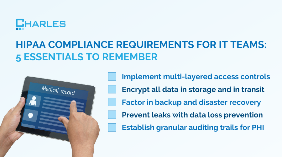 HIPAA compliance requirements for IT teams: 5 essentials to remember