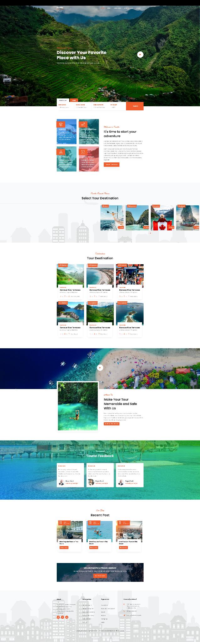 Mẫu website du lịch 2