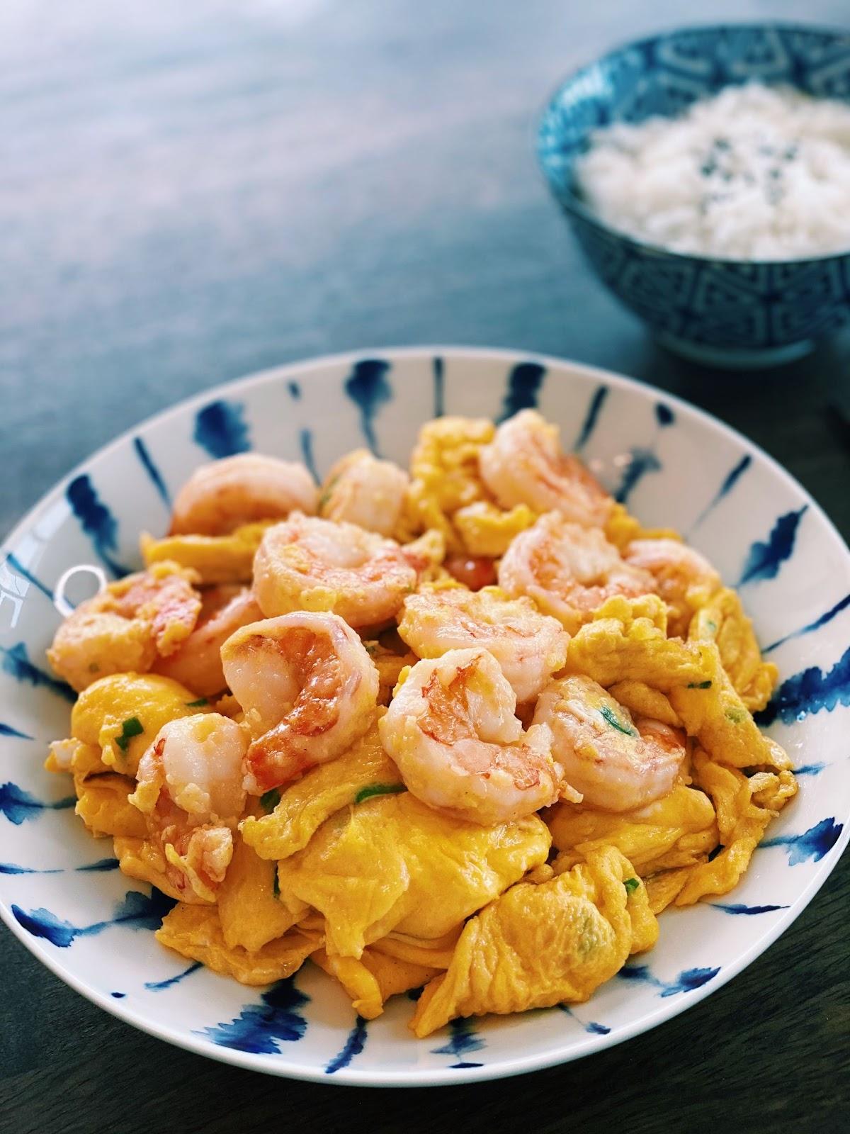 Shrimp and Egg Stir-fry (10 Minutes ONLY!)