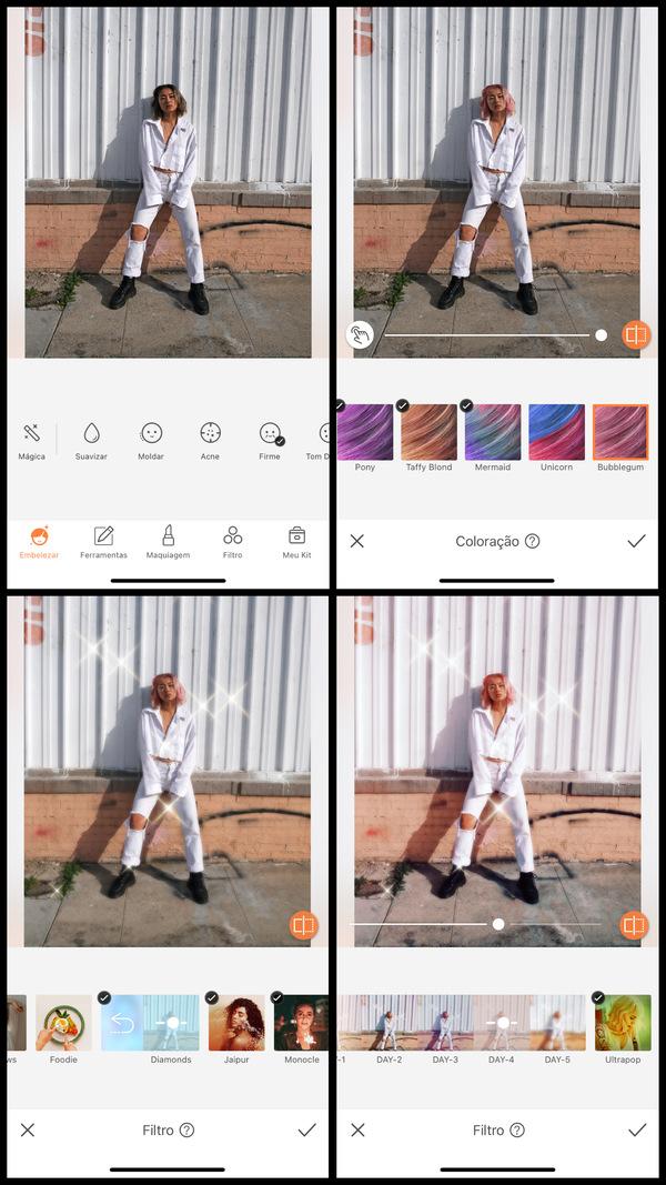 Tutorial de edição inspirada no estilo K-Pop usando as ferramentas do AirBrush