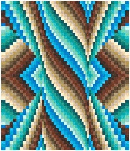 Beautiful Blue Bargello - Craftsy Member Project