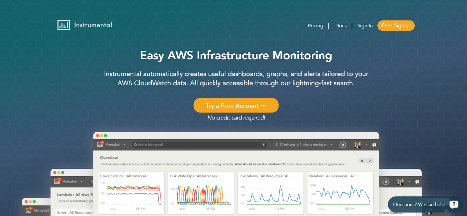 Instrumental Server monitoring software